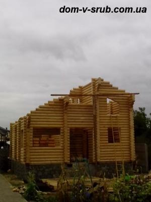 Log buildings under construction_105